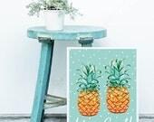 Pineapple Print || pineapple poster, life is sweet, Pineapple Bar, inspirational print, summer print, pineapple, summer lovin, Nursery Decor