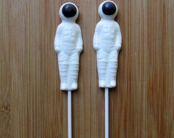 ASTRONAUT Chocolate Pops (12) - SPACESHIP Favors/Space Party