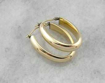 Vintage Gold Hoop Earrings 6V4T1Y-N