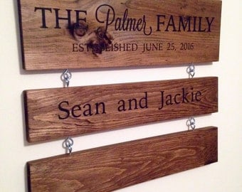 Custom Family Sign, Wooden Family Sign, Family Ladder Sign, Family Add On Sign, Add On Sign, Wedding Gift, Baby Shower Gift, Custom Sign