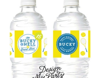 Tennis Water/Soda Labels (Personalised DIY Printables)
