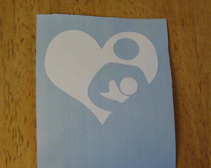 Nursing Breastfeeding Love Vinyl Decal