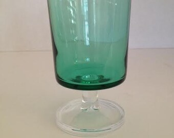 Green glasses- set of 6