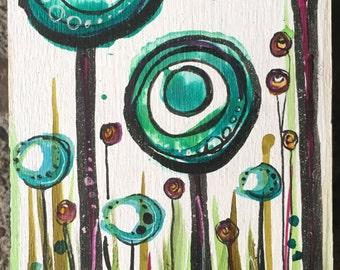 Green Trees Mini-Painting