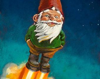 Gnome in Space - Art Print
