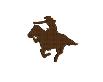 embroidery design Horse rider silhouette