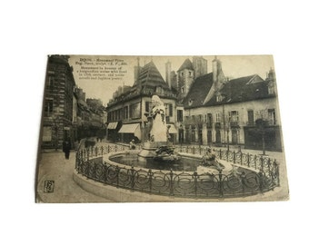 Dijon, Monument Piron, France . French Vintage Postcard . Topographic Postcard France.