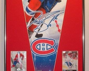 Montreal Canadians PK Subban Pennant & Cards...Custom Framed!