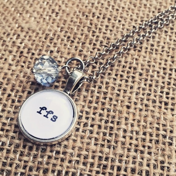 FREE SHIPPING - FFS Necklace - ffs yolo wtf omfg Keyring Keychain - Quote Necklace - Jewerly