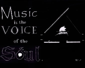 Music is the Voice of the Soul Eater - Soul Eater print