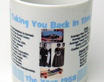 1958 Taking You Back In Time Coffee Mug