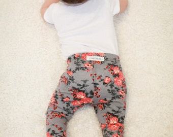 Floral  Baby Leggings/ Toddler Leggings/ Newborn Leggings/ Baby Girl Leggings/ Baby Gift/ Baby Outfits/ Baby Clothing/ Toddler Girl Clothes