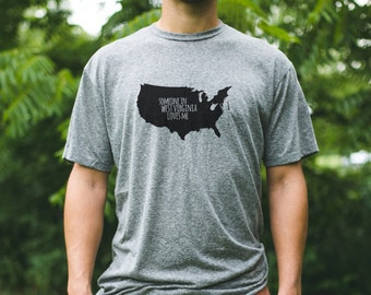 WEST VIRGINIA Men's Someone Loves Me / West Virginia Tshirt / West Virginia Gift / West Virginia Family / West Virginia Home / WV Shirt