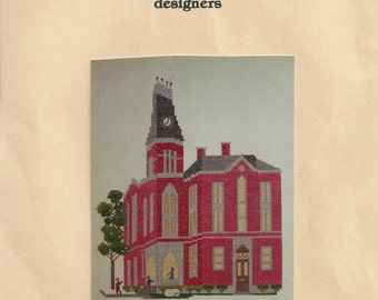 DePauw University East College Indiana Counted Cross Stitch Kit PALS, Ltd.