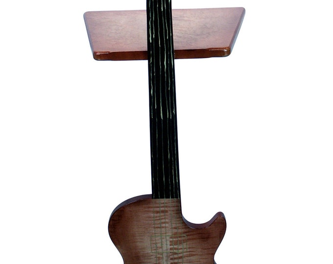 Guitar Perching Table - South West Brown Burst Tiger Maple