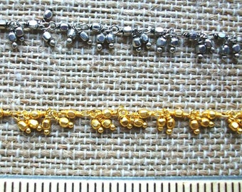 Dangle Chain, Gold Chain, Silver Chain, Lacey Chain, Tassel Chain