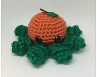 Pumpkin Octobaby Plush Crochet Octopus Toy