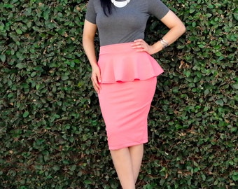 Extra Long Midi Pencil Skirt / Tight Skirt / Fitted Skirt /