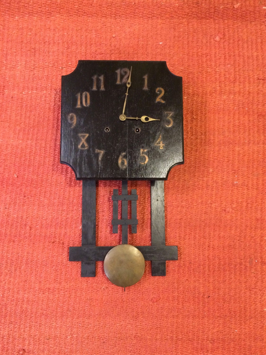 Antique Sessions Wall Clock Mission Style