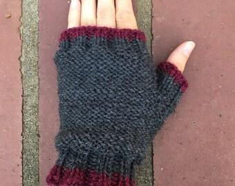 Knit Fingerless Gloves, Knit Wool Gloves Fingerless