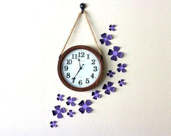 Purple room decor - purple nursery decor - 3d flower wall decor - Paper flowers - Purple wall decor - Purple wall art - 3d flowers