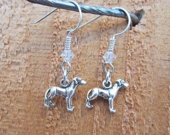 Great Dane Dangle Earrings - Sterling Silver Mini