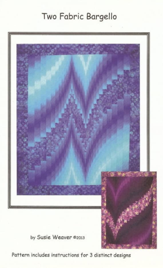 Quilt Patterns With Two Fabrics : Two Fabric Bargello Pattern. Modern take on traditional