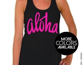 Aloha Tank Top - Aloha Flowy Tank Top