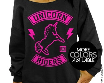 Unicorn Riders Sweatshirt - Unicorn Slouchy Oversized Sweatshirt - More Colors Available