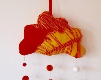 Tropical Sun Hanging Cloud Mobile