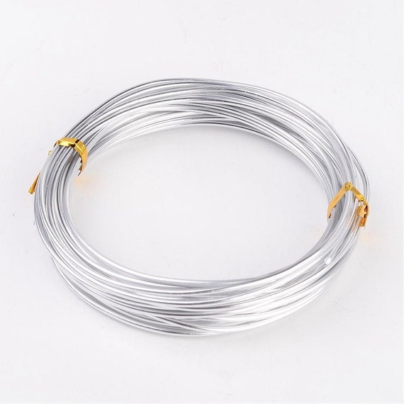 silver round aluminum wire wrapping jewelry making wire