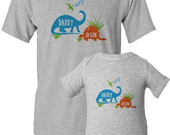 Funny Dad and Baby Matching Shirt, Matching Dad and Son Shirt, Dinosaur Baby Shirt, New Dad Gift, Fathers Day Shirt Set, New Daddy Shirt