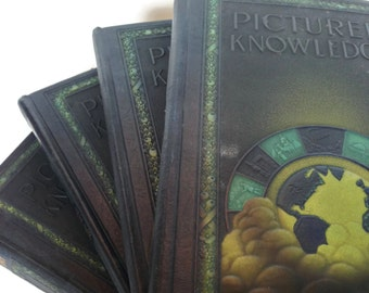 1935 Pictured Knowledge children's readers set educational books