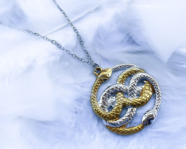 neverending story necklace ouroboros necklace by kingsfieldinn