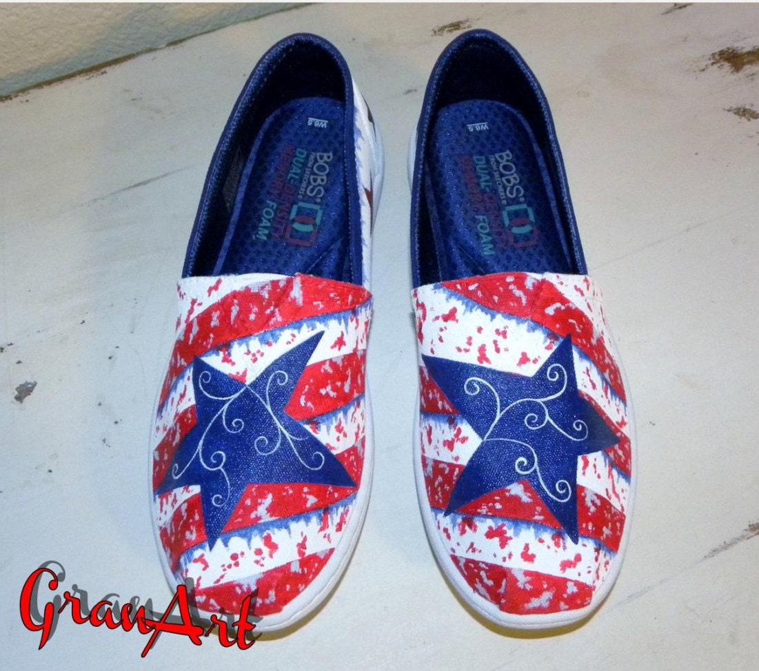 s custom shoes blue bobs canvas shoes