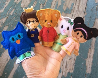 Neighborhood Friends Finger Puppets - Sold Individually or as a Set