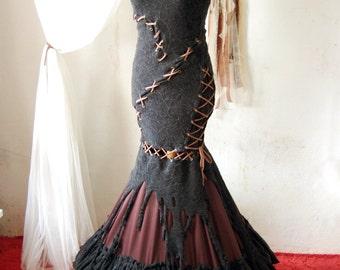 Warrior Queen Dress Steampunk Post Apocalyptic Wasteland Burning Man