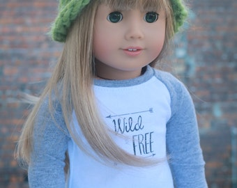AG Doll Clothes | Olive Green Knitted BEANIE HAT for 18 Inch Dolls such as American Girl