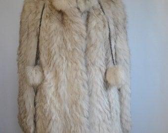 Vintage  FOX FUR full length coat , Glamorous fur coat.....(180)