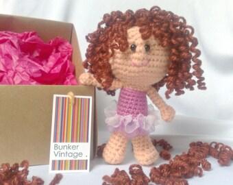 Amigurumi curly hair doll - Fairy - Crochet doll - Crocheted doll - Amigurumi Fairy doll - Crochet Fairy doll - Amigurumi Crochet doll