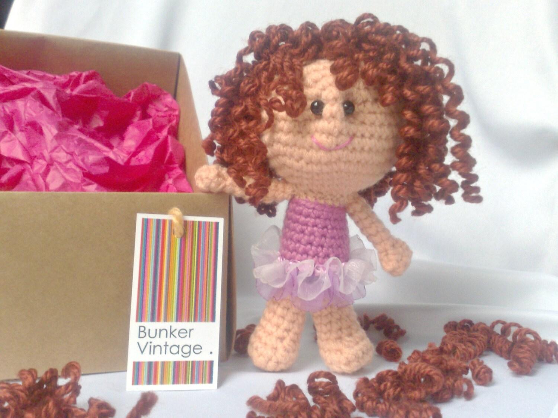 Amigurumi Hair Curly : Amigurumi curly hair doll Fairy Crochet doll Crocheted