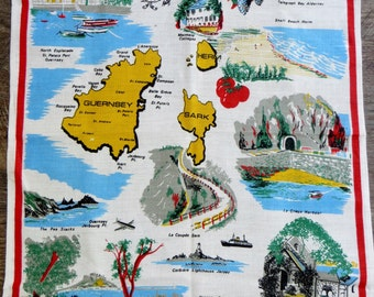 Channel Islands Linen tea towel Old/New stock - Free Postage