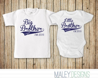 Big Brother Little Brother Set, Matching Brother Outfits, Coordinating Sibing Shirts, Big Brother Little Brother Shirt, Brother Shirts