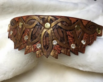 MARTINGALE Elven Hand Tooled Leather Dog Collar