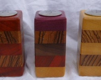 Exotic Wood Salt Shakers