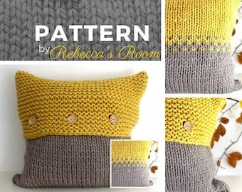 Knitting Pattern Pdf The Frensham Pillow Pattern Home Decor Knit Pdf Knitting