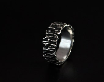 """SALE -20% OFF Sterling Silver Organic Design Ring """"Quaerium"""" 