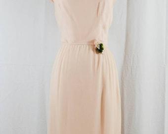 1960's Lady in Pink // Silk Dress // Designer