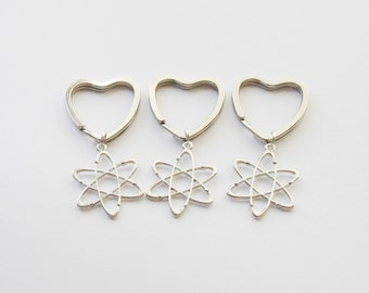 Best Friend Gifts, 3 Keychains, Atom Keychains, 3 Science Keychains, 3 Atom Keychains, Atomic Keychain, Physics Keyrings, Science Gifts