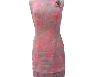 1960s floral vintage shift dress